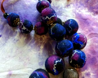 """Beads from felt """"Cosmos"""""""