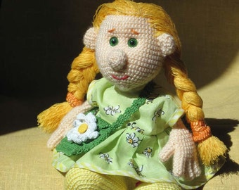 Crochet Doll Camomile Knitted Soft Toy