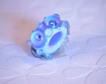 Hair Jewelry | Dread Bead | Handmade | Glow In The Dark | Glass Dread Bead | Dreadlock Accessories | Handmade Glass Bead | Big Hole Bead