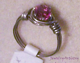 Wire Wrapped Ring - Gorgeous Handmade in Sterling Silver, Sz 6 by JewelryArtistry- R127