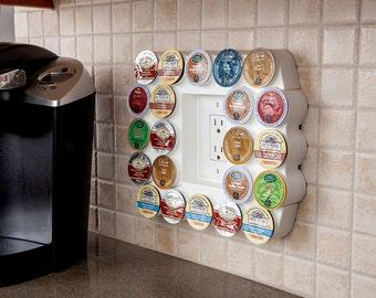 Cafe Wall Caddy - Space-Saving Coffee Pod Storage for K-Cups (BK002-01)
