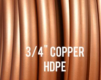 "Metallic Copper 3/4"" HDPE Dance & Exercise Hula Hoop COLLAPSIBLE push button or minis - metal red orange"