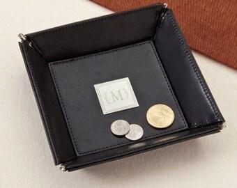 Monogram leather Stash Tray
