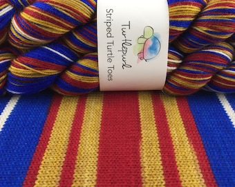 Wonder Woman - Hand-Dyed Self-Striping Sock Yarn