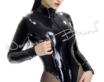 Rubber Latex Leotard Body  - Zip Breasts Westward Bound R1033 MADE/DESIGNED UK