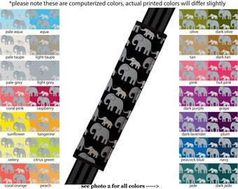 Seat Belt Cover // AUTO PAD // Car Accessories // seat belt pad - Elephants - Pick Your Own Color - Custom Customized seatbelt pattern
