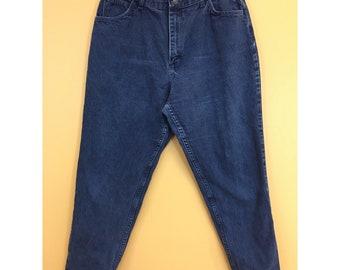 Vintage Gitano High Waisted Dark Wash Mom Jeans 18P