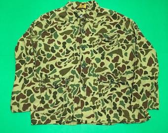 Vintage Duck Camo Shirt- Vintage Button Up Camo Shirt - Vintage Duck Camo Jacket - Lightweight Camo Jacket - Duck Camo Windbreaker