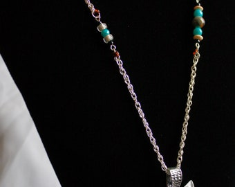 Teal Owl Necklace