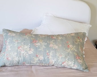 Rachel Ashwell Pillow Shabby Chic Retired  Couture Prairie Rose Linen With Down Insert