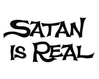 Satan is Real Satanic Occult Pentagram Vinyl decal sticker psychedelic