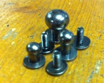 Button Studs Asst. Gun Metal (10)