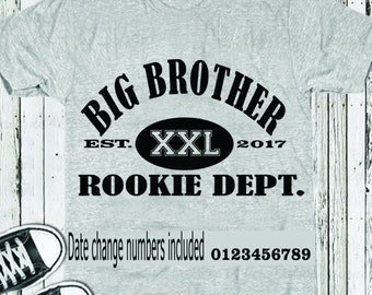 Big Brother Rookie Dept. SVG EPS DXf, Studio3 cut file set, Printable Png, Cricut Design Space Silhouette Studio Digital Cut Files, Sibling
