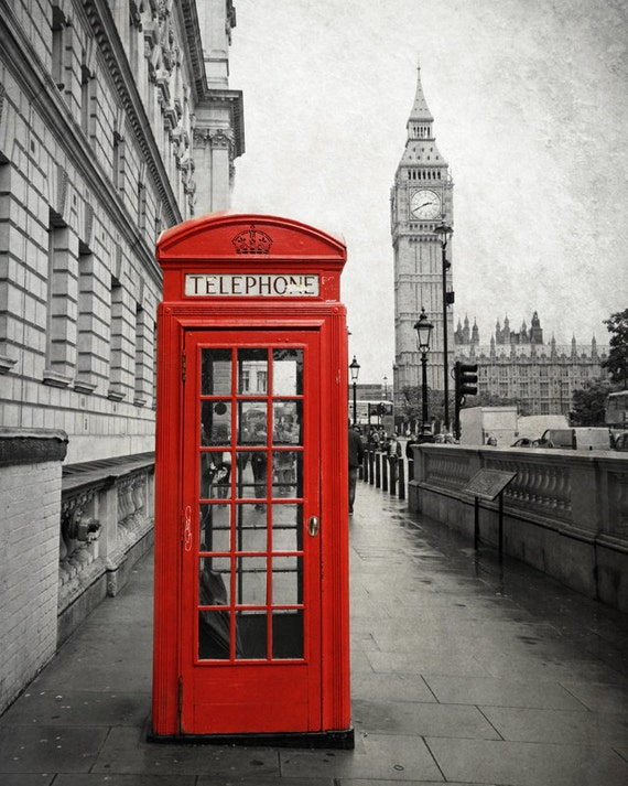 London Print Big Ben Photography Red Phone