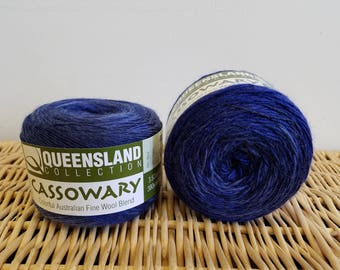 Wool Blend Sock Yarn, Gradient Sock Yarn, Cassowary by Queensland Collection, Coral Sea 10