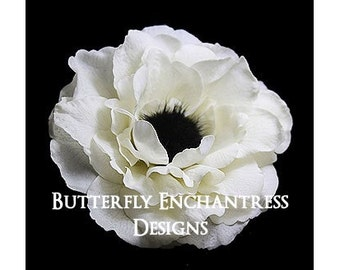 Bridal Hair Flower, Wedding Hair Accessory, Flower Hair Clip - Ivory Rachelle Anemone Bridal Flower Clip