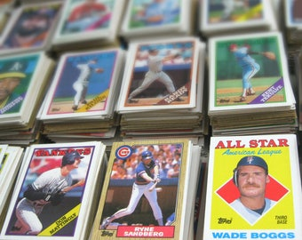 Vintage Baseball Cards, Personalized Man Cave Gift for Him, Set of 30, CHOOSE YOUR TEAM, Astros, Cubs, Yankees, Red Sox, Mets, More