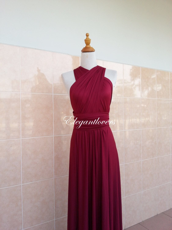 Red wine merlot burgundy maroon bridesmaid dress infinity zoom ombrellifo Choice Image