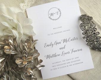 Wedding Programs     wedding programs     ceremony program     programs - Style 21 - Laurel Branch COLLECTION