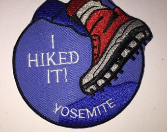 Yosemite National Park hiking mountains outdoor adventure Iron On Patch