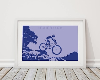 Original design mountain biking print