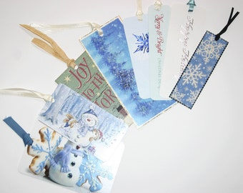Winter Gift Tags, snowman gift tags, snowflake gift tags, snowflake gift tag,  Gift Tag Assortment, Christmas Gift Tag, Christmas Gift Tags