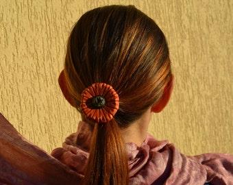mother gift Hair elastic Hair tie bracelet pony tail tie wooden hair jewelry gerber hair holder flower pony tail holder womens gift Mom
