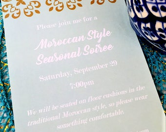 Moroccan Dinner Party Invitation