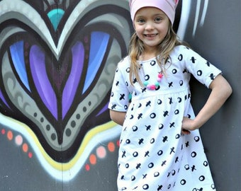Thread Faction #118 Autumn Dress PDF Sewing Pattern girls sizes 2 - 10