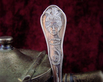 1933 Chicago World's Fair Science Court Spoon