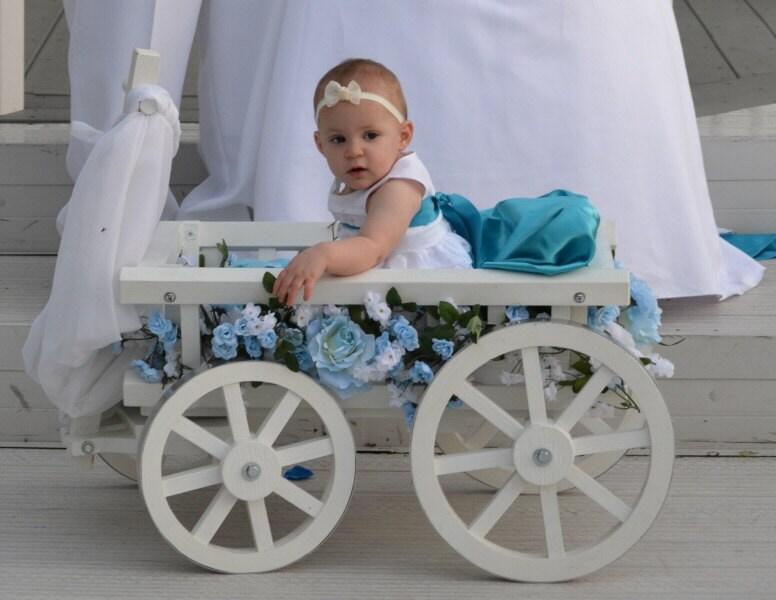 Medium Flower Girl Wedding Wagon Gloss White or Ivory