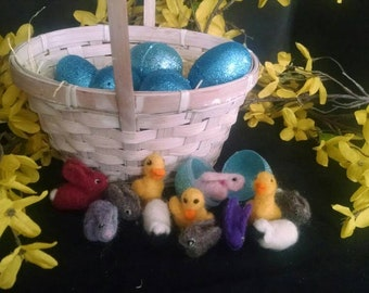 Felted Minis for Easter Eggs (Set of 3)
