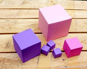 Paper Cubes (DIY Paper Template)
