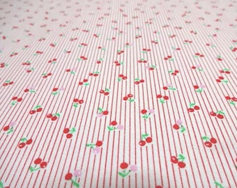 SALE Japanese Fabric LECIEN Small Cherry Red FQ