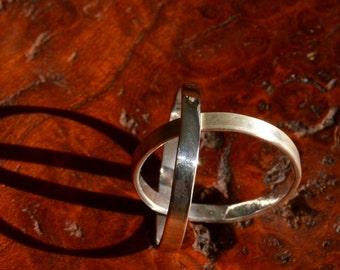 Simple Stacking Ring - Simple Silver Band- Size 8.25 - High Polish Finish - Sterling Silver - Made in Vermont