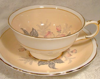 Paragon A703B Anemone Floral Tea Cup and Saucer 1950s Flower Teacup