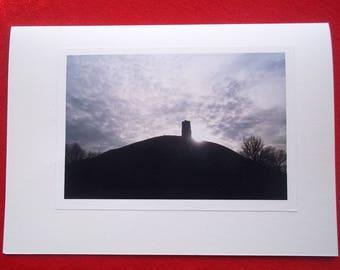 Greeting Card - Glastonbury Tor Winter Light