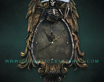 Grim Reaper Wall Hanging Clock