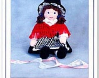 Megan the Welsh Doll Knitted Doll, Knits & Pieces Knitting Pattern , Toy knitting pattern, Doll  toy pattern KP 14