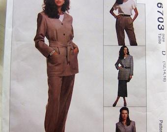 McCalls 6703 uncut suit size 12, 14 and 16