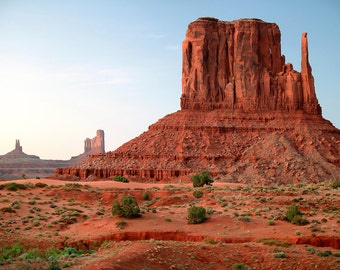 Monument Valley SP - The Mittens, Landscape Photography, Arizona Photo Art,  Utah Wall Art, Monument Valley Canvas, Photo Wood Block, Navajo