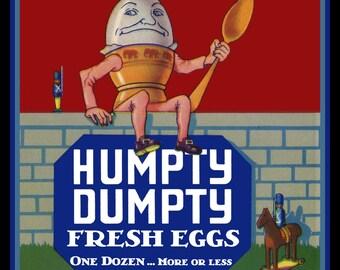 Humpty Dumpty Eggs Refrigerator Magnet