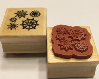 Snowflakes rubber stamp, 25 mm (BR88)