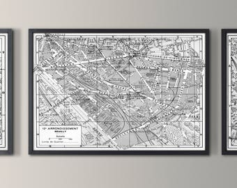 Nursery paris map paris map grand canvas wall tapestry paris map 12th arrondissement map reuilly map print vintage paris arrondissement map paris gumiabroncs Image collections