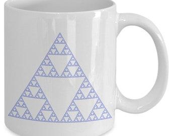 Sierpinski triangle - math themed gifts - coffee tea cup