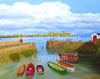 Coliemore Harbour & Dalkey Island 17x12(A3)