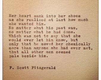 F. Scott Fitzgerald Quote Typed on Typewriter