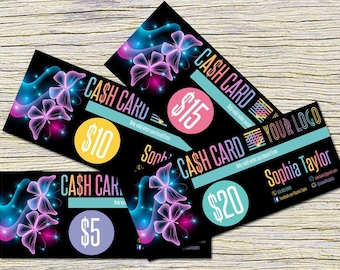 Butterfly Cash Cards, Free Fast Personalization ,  Money Card, Digital Files,  Bucks, Price Cards Signs, Butterfly Monay card