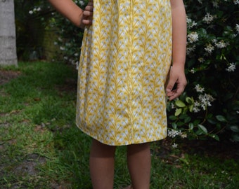 Yellow Pattern Summer Dress