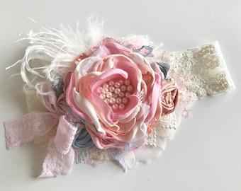 Baby Girl Headband, Candy Maddie- Baby Headband- Flower Girl Headband,Well Dressed Wolf-  Avry Couture- DollCake Headband, TUTU Du Monde